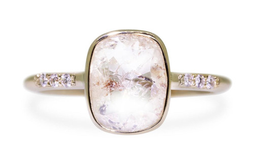 1.50 Carat Rustic White Diamond Ring in Yellow Gold