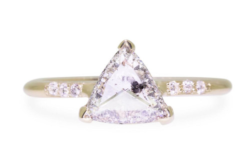 1 Carat Salt and Pepper Diamond Ring in Yellow Gold