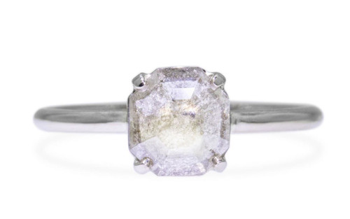 .61 Carat Light Gray Diamond Ring in White Gold