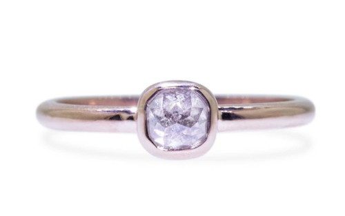 .46 Carat Icy White Diamond Ring in Rose Gold