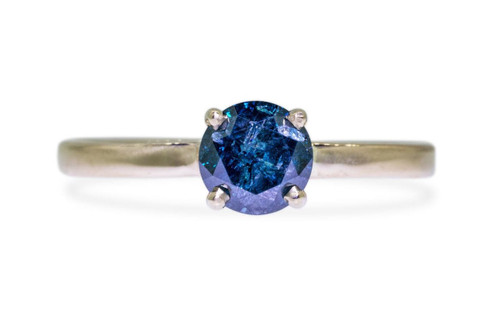 .80 Carat Blue Diamond Ring in Yellow Gold