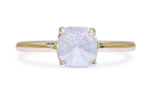 .92 Carat Gray Diamond Ring in Yellow Gold