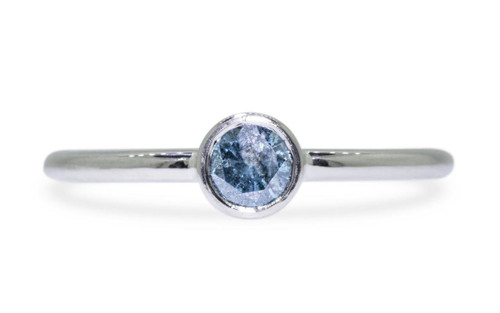 .35 Carat Blue Diamond Ring in White Gold