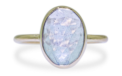 3 Carat Aquamarine Ring in Yellow Gold