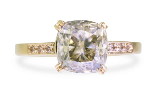 3.02 Carat Champagne Diamond Ring in Yellow Gold