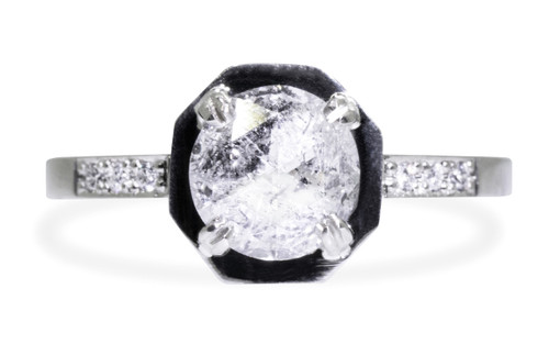 AIRA Ring in White Gold with 1.33 Salt and Pepper Diamond