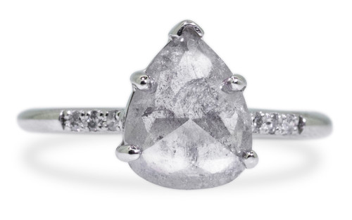 1.48 Carat Gray Diamond Ring in White Gold