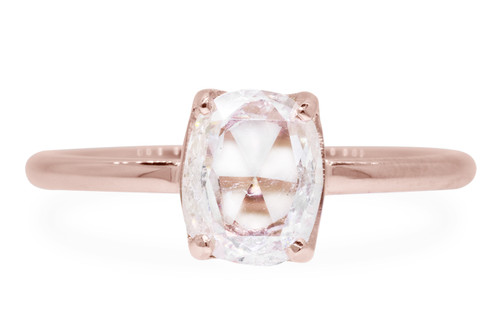 1 Carat Translucent White Diamond in Rose Gold