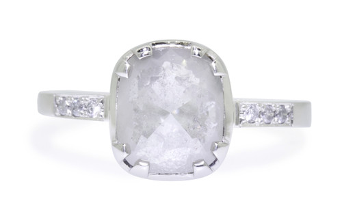 1.53 Carat Light Gray Diamond Ring in White Gold