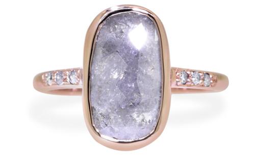 2.45 Carat Gray Diamond Ring in Rose Gold