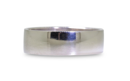 Flat Gold Band- 6.5 mm width