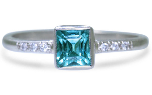 .85 Carat Indicolite Tourmaline Ring in White Gold