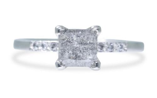 1.39 Carat Gray Diamond Ring in White Gold