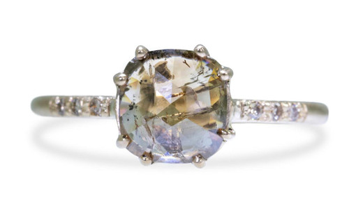1.10 Carat Champagne & Cocoa Diamond Ring in Yellow Gold