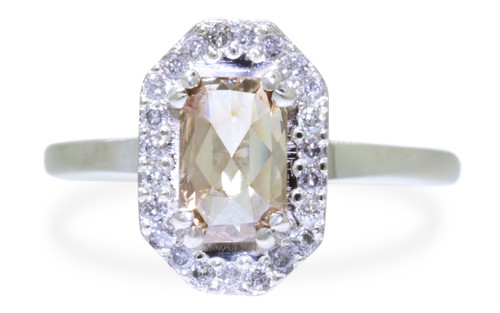 KATLA Ring in White Gold with 1.03 Carat Champagne Diamond