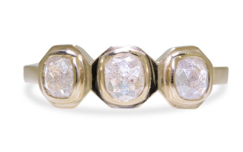 TAAL Ring in Yellow Gold with .94 Carat Icy White Diamonds