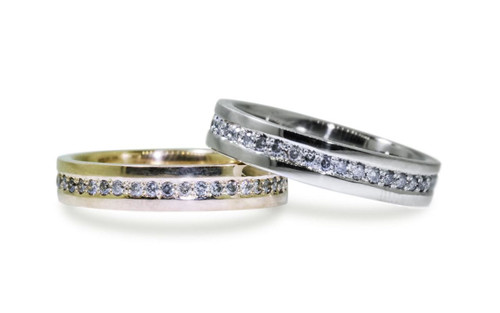 CM Eternity Wedding Band with Gray Diamonds