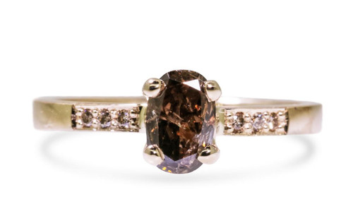 .83 Carat Cognac Diamond in Yellow Gold