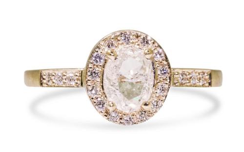 .88 Carat White Diamond with White Diamond Halo