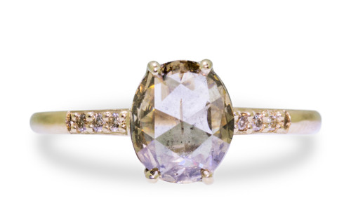 1.21 Carat Smoky Champagne Diamond in Yellow Gold