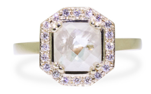 KATLA Ring in Yellow Gold with .98 Carat Light Gray Diamond