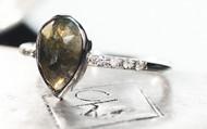 SALE 1.96 Carat Green/Gray Diamond Ring