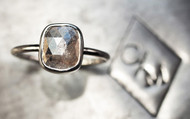 2.3 Carat Grey Diamond Ring in White Gold