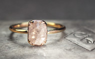 1.18 Carat Light Grey and White Diamond Ring