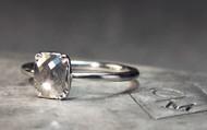 .94 Carat Light Grey Diamond Ring in White Gold