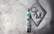 Four Gem Birthstone Necklace