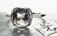 1.4 Carat Salt & Pepper Diamond Ring in White Gold