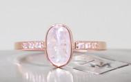 .95 Carat White Diamond Ring in Rose Gold