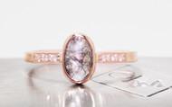 1.09 Carat Salt and Pepper Diamond Ring in Rose Gold