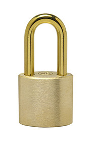 "2"" Brass Shackle - Solid Brass Padlock - Made in USA"