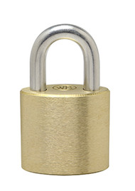 "1"" Hardened Stainless Steel Shackle - Solid Brass Padlock - Made in USA"