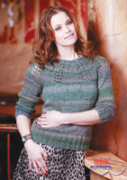 "Lace Yoke Sweater ""Camilla"" Knitting Pattern 