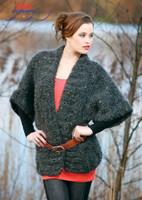 "Cardigan ""Ofra"" Knitting Pattern | Adriafil Olimpo Yarn"