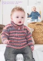 Babies / Boys Sweaters DK Patterns | Sirdar Snuggly Baby Crofter DK 1484