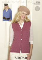 Cardigan and Waistcoat 4 Ply Pattern | Sirdar Country Style 4 Ply 9235