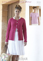 Cabled Cardigan and Sweater 4 Ply Pattern | Sirdar Country Style 4 Ply 9555