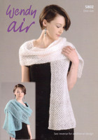 Wrap, Stole and Shawl Fashion Yarn Fashion Pattern | Wendy Air 5802