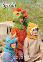 Chunky Patterns for Boys Dinosaur Hoods - Wendy Serenity Chunky 5830