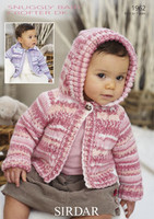 Babies / Girls Jackets with / without Hood Pattern | Sirdar Snuggly Baby Crofter DK 1962