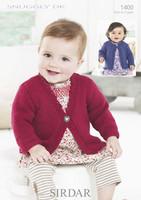 DK Pattern for Babies / Childs Cardigans - Sirdar Snuggly Dk 1400