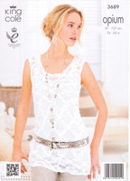 Ladies Twinset Cardigan and Vest Chunky Patterns | King Cole Opium 3689