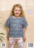 Girls Tassle Sweaters Chunky Patterns | King Cole Opium 3750