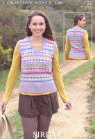 Sirdar Country Style DK 7122 Knitting Pattern