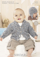 Simple Cardigan and Helmet for Boys DK Pattern | Sirdar Tiny Tots DK 1426