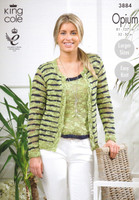 Opium Pattern for Vest and Cardigan Pattern | King Cole Opium 3884