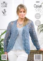 Ladies Cardigans Knitting Pattern | King Cole Opium 3881
